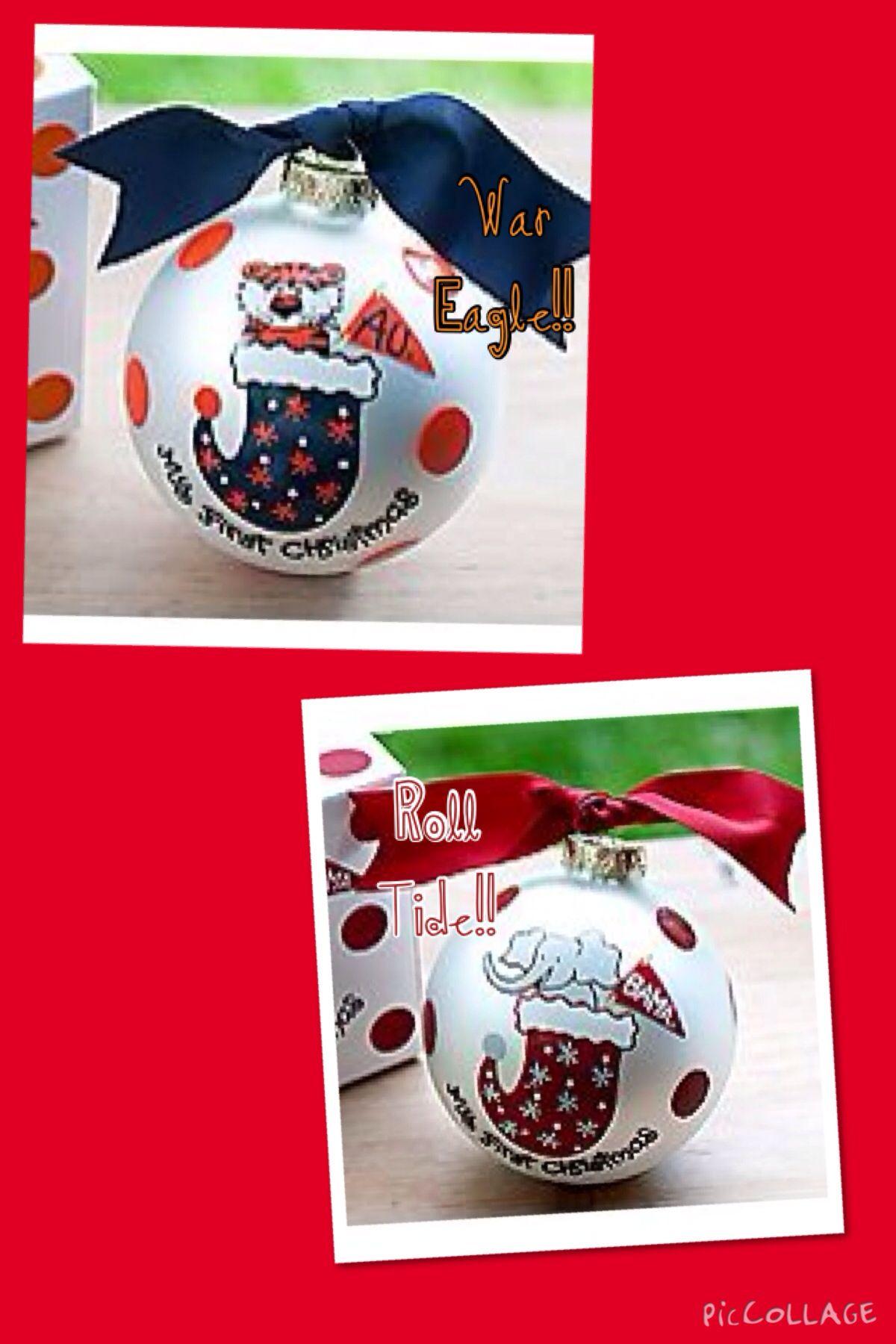 Auburn christmas ornaments - Alabama And Auburn Christmas Ornaments 20 5 Shipping Email Me At Nesie 2