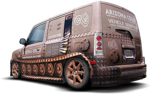 Awesome vehicle wrap by Arizona Color, creative and eye-catching. Use our Images and Outlines and create your own stunning vehicle wraps