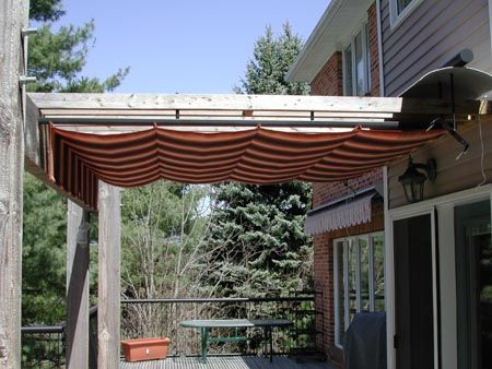 Diy Retractable Pergola Cover Outdoor Canopy