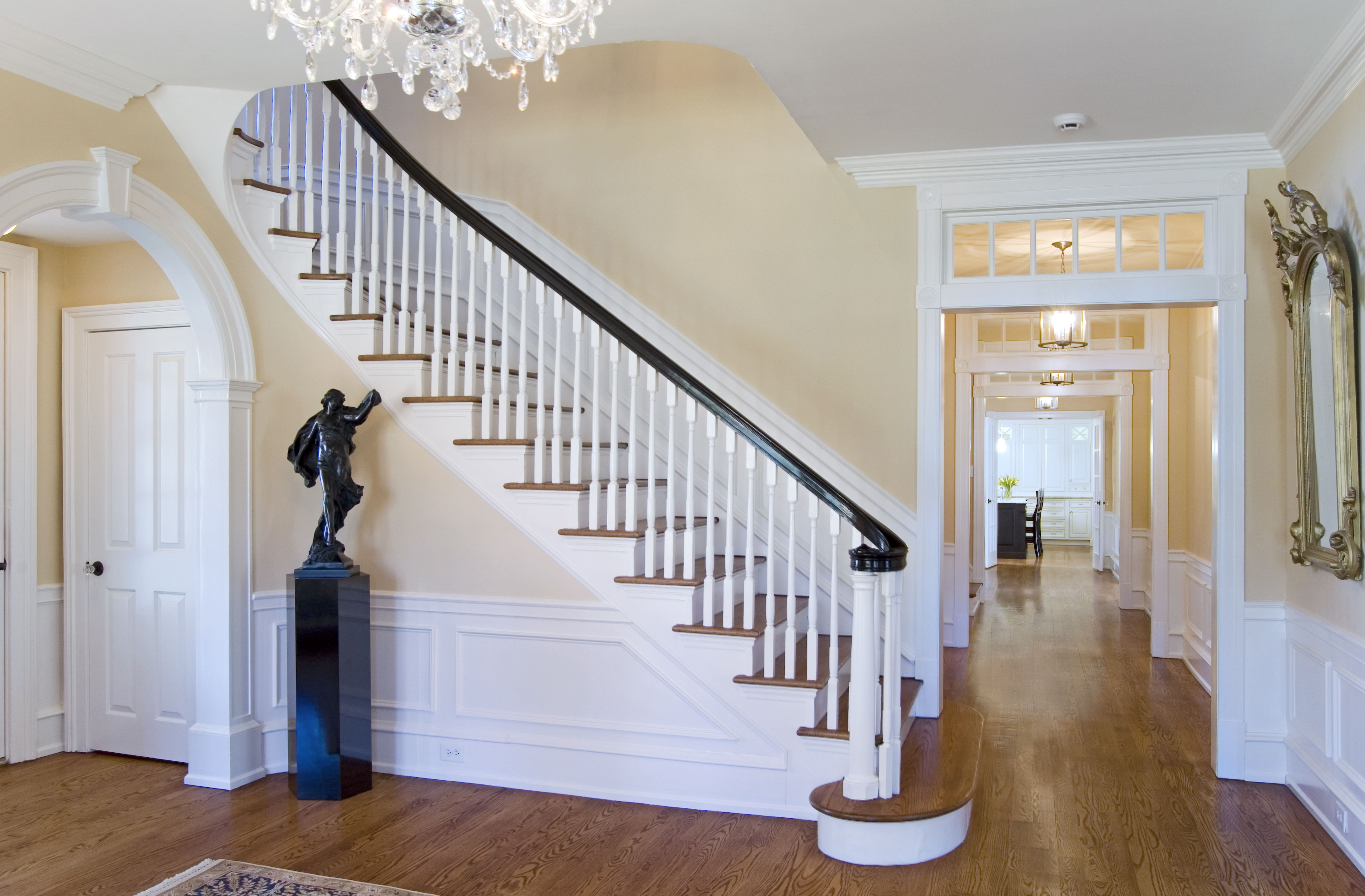 Historic Colonial Interiors Revival Foyer Restoration Wayne Pa