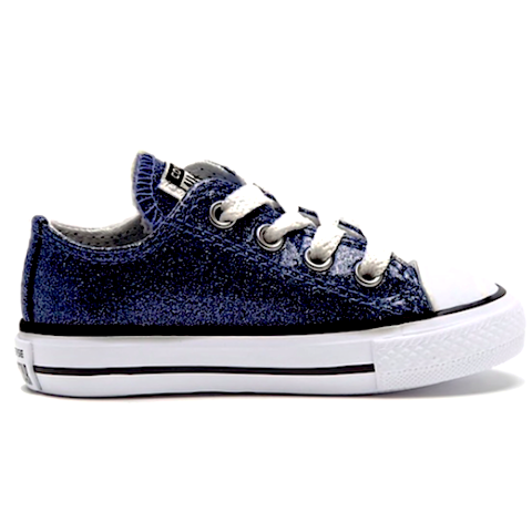 Kids Sparkly Glitter Converse All Stars low Bling Sneakers