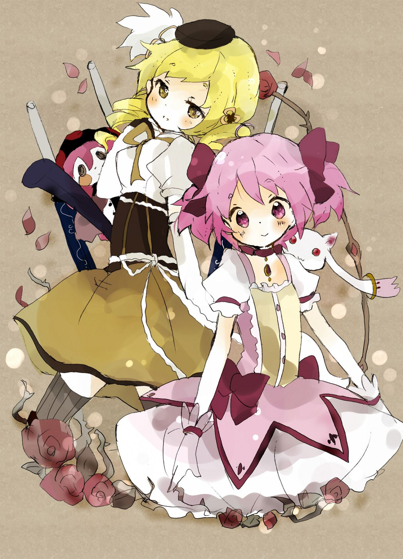 "madomamii ""By 月夜 "" (With images) Anime, Fan art, Madoka"