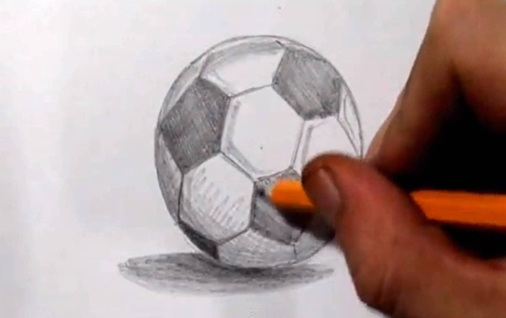 How To Draw A Soccer Ball Football Real Time Sketch Soccer Ball Soccer Drawing Lessons