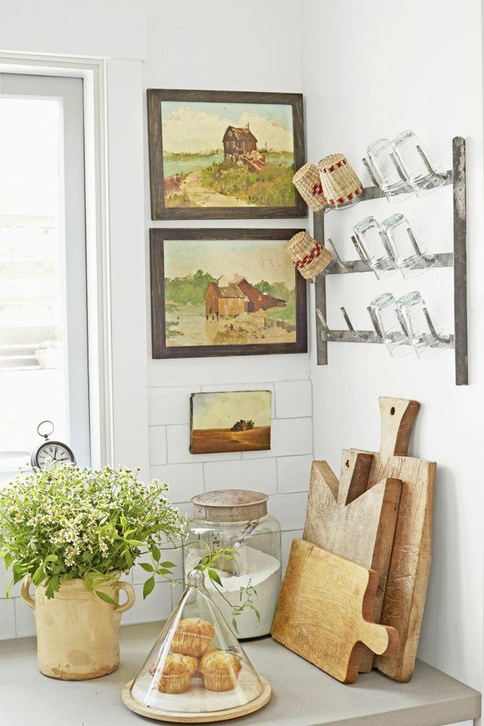 ▷ 1001 + Ideen für moderne Wohnzimmer Landhausstil Einrichtung - wohnzimmer deko wand