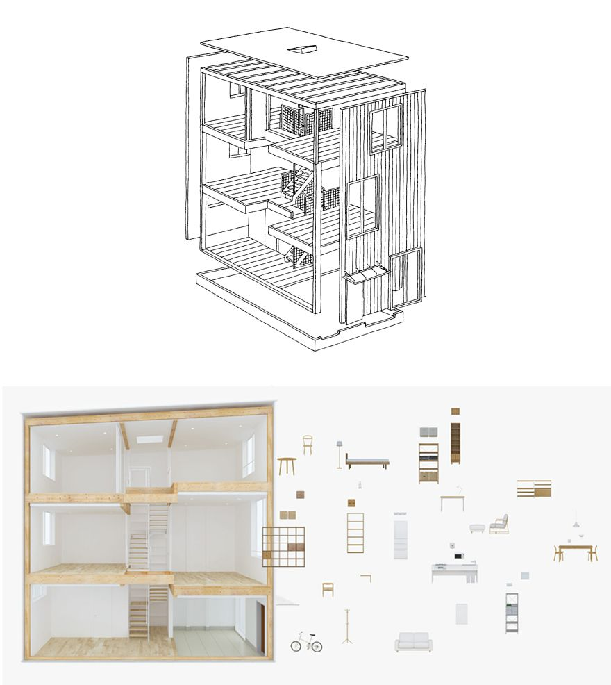 Muji 39 s latest iteration of their pre fab home the for Muji home design