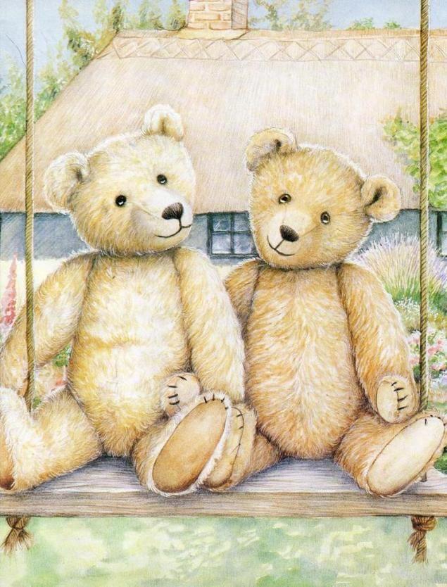 Картинки салют, изображения мишек в открытках