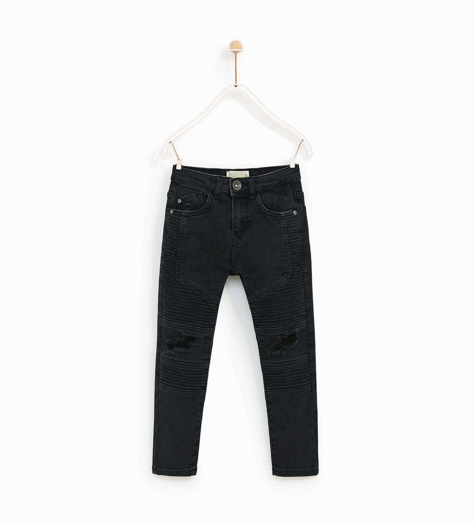 49346149 Image 1 of RIPPED BIKER TROUSERS from Zara | The twins/ Max and ...
