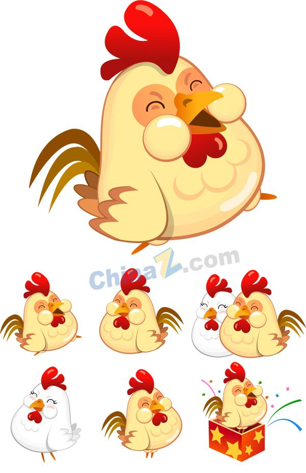 Funny chicken in a badge stock vector. Illustration of pullet - 77004231
