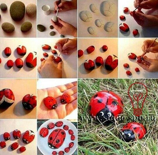 Decoraci n de piedras para el jardin manualidades for Decoracion de piedras para jardin