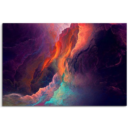 Colourful Clouds in the Light Framed Photographic Art Print on Canvas