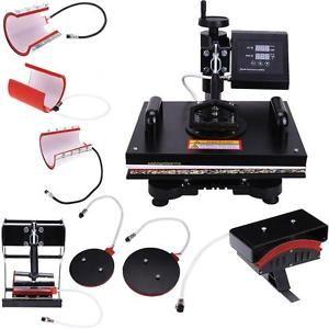 Digital-8-in-1-Transfer-Heat-Press-Machine-Sublimation-T-Shirt-Cap-Swing-away