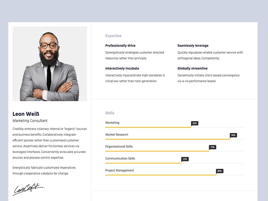 Want to make your CV mesmerizing? Download responsive HTML5 - Resume Now Customer Service