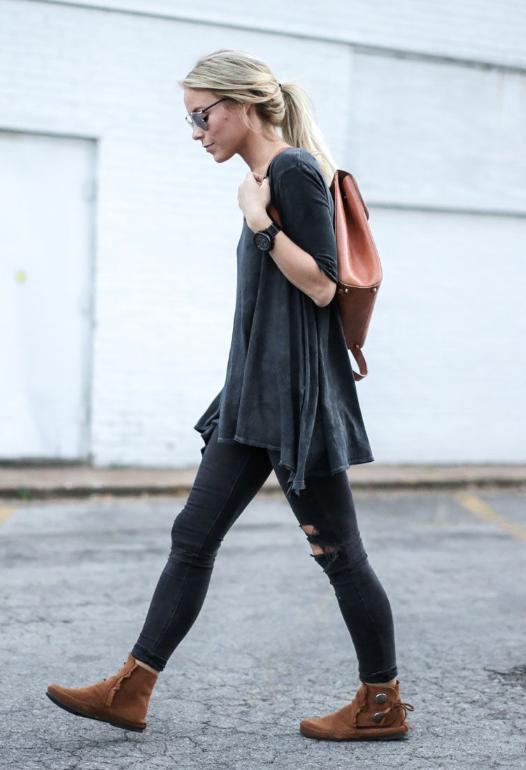 25 ways to wear suede happily grey moccasins and gray