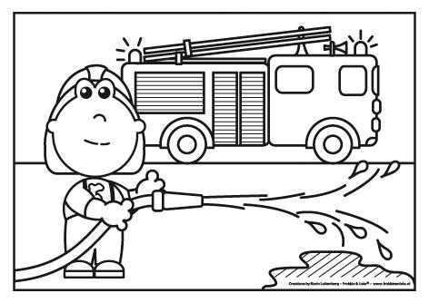 kleurplaat brandweer brandweer