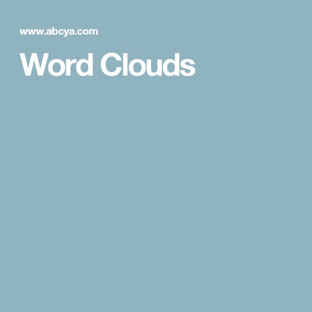 Word Clouds | Favorite Websites! | Word cloud generator