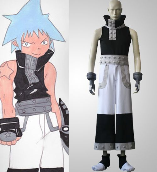 Authentic Anime Soul Eater Black Star Cosplay Costume Sell Online