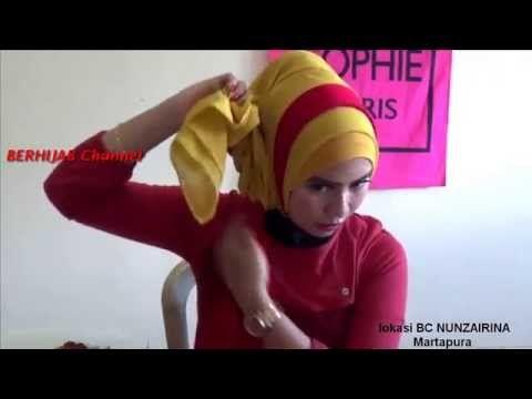 Tutorial hijab turban modifikasi paris segi empat youtube.