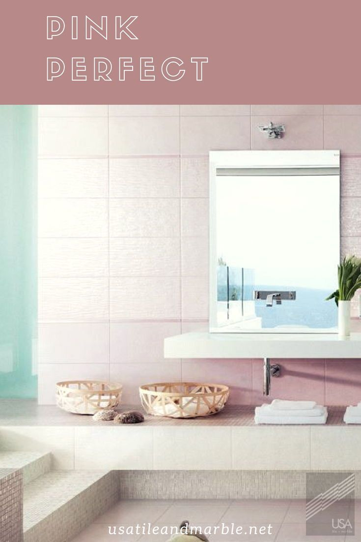 Pink tiles for your bathroom| Floor and D cor #flooring ...