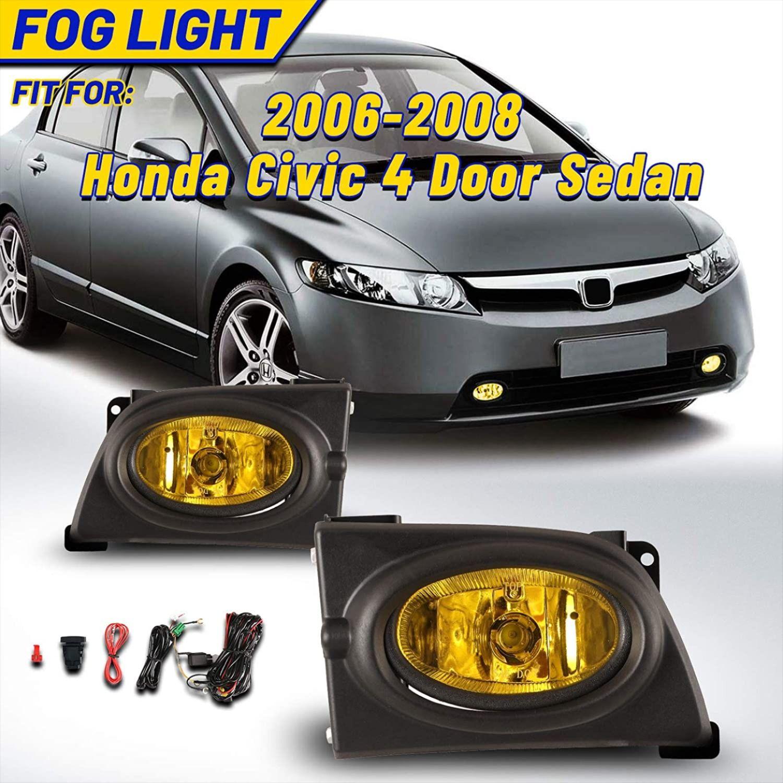 Fog Lights For Honda Civic Sedan 4 Door 2006 2008 Autofree Honda Civic Sedan Honda Civic Civic Sedan