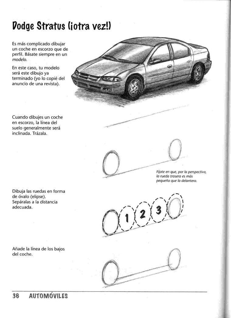 Como Dibujar Un Auto En Perspectiva Tutorial Car Drawings Drawing Machine T Shirt Painting