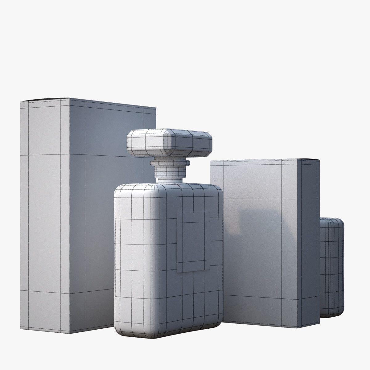 3d model - chanel n°5 perfume bottles | REMEMBER THESE