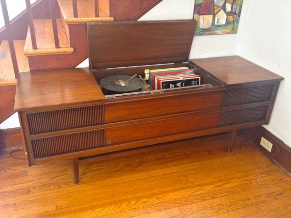 Vintage General Electric Stereo Console Atomic House