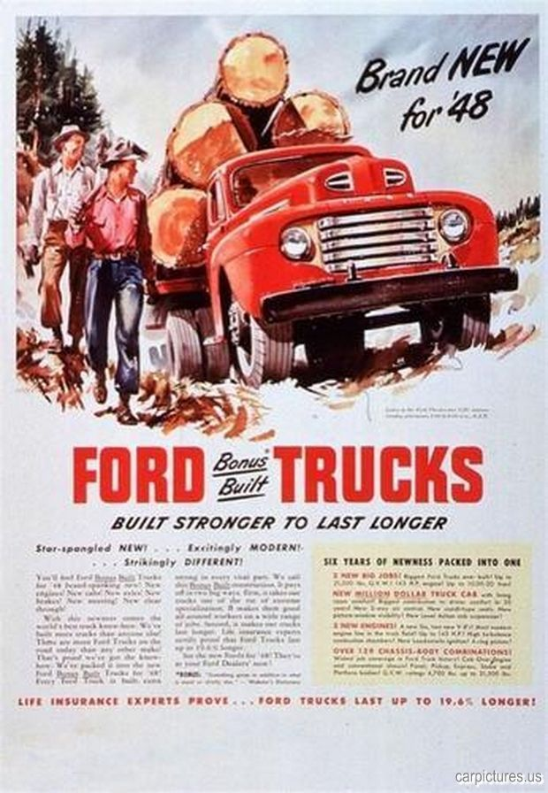 1948 Ford Truck Advertisement Classic Trucks Classic Ford