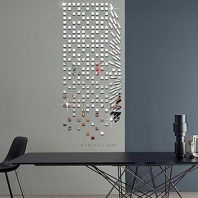 4 Packs Diy Mirrors Mosaic Tiles Self Adhesive Wall Stickers