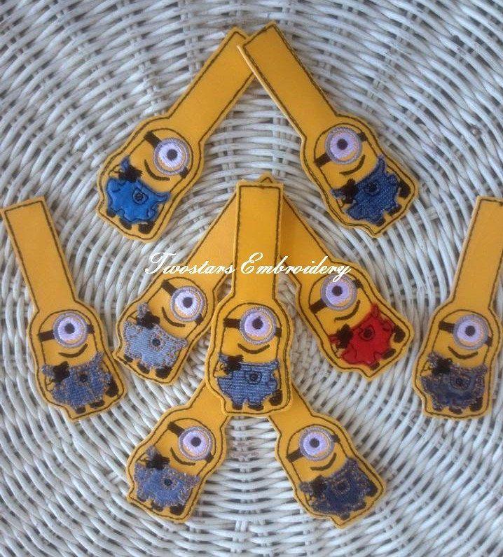 One eye minion key fob embroidery design by twostars