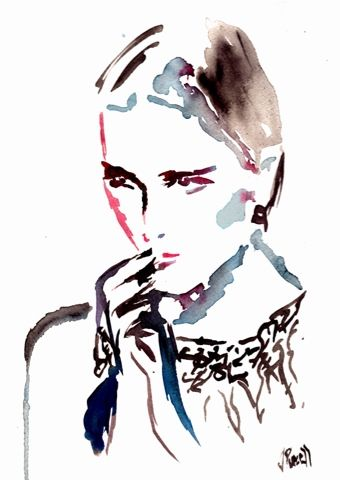 Palettes Of Fashion: Fashion Illustration Watercolor by: Jennifer Purcell