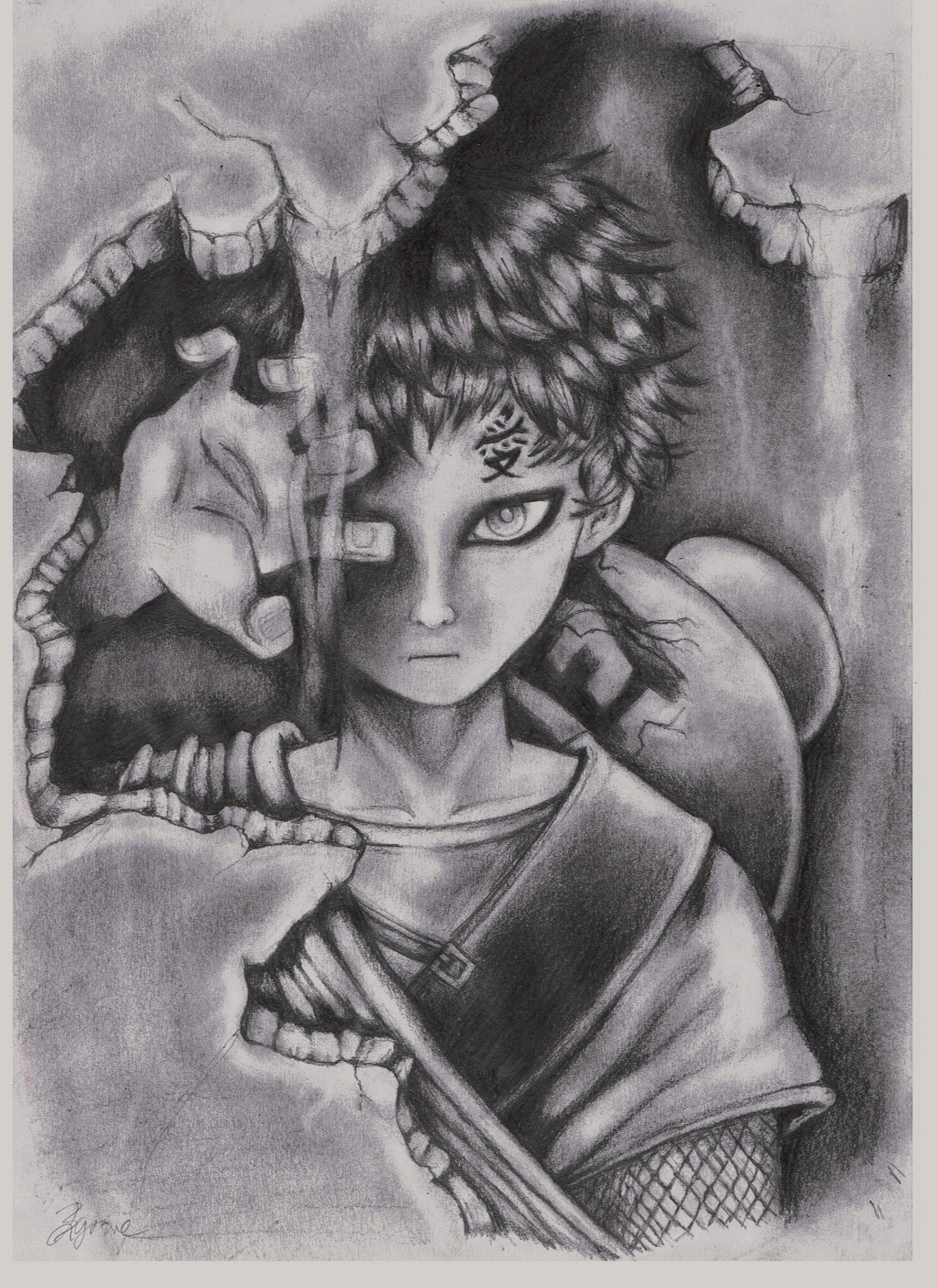 Gaara naruto sketch
