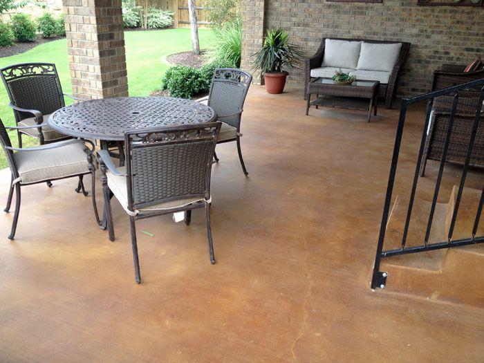 Stained Concrete Patio | Stained Concrete Patio Austin