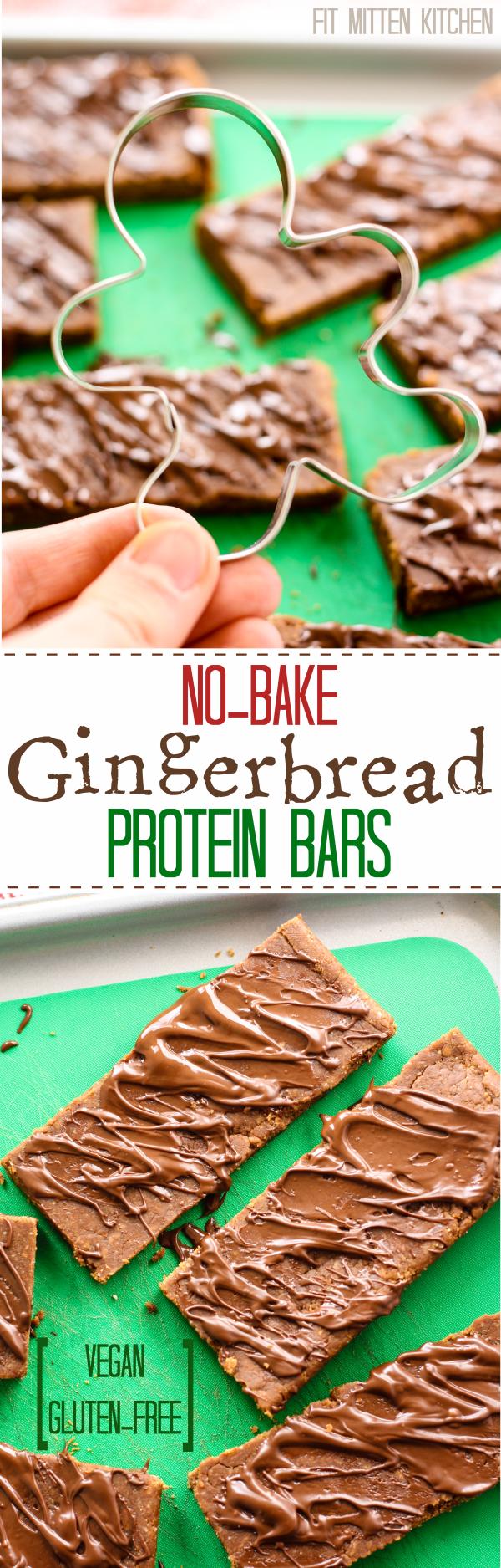 No-Bake Gingerbread Protein Bars [Fit Mitten Kitchen]