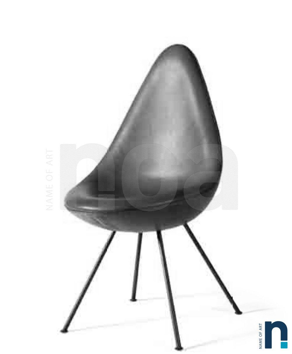 Arne Jacobsen Chaise Drop Edition Fritz Hanse Circa 1958 Arne Jacobsen