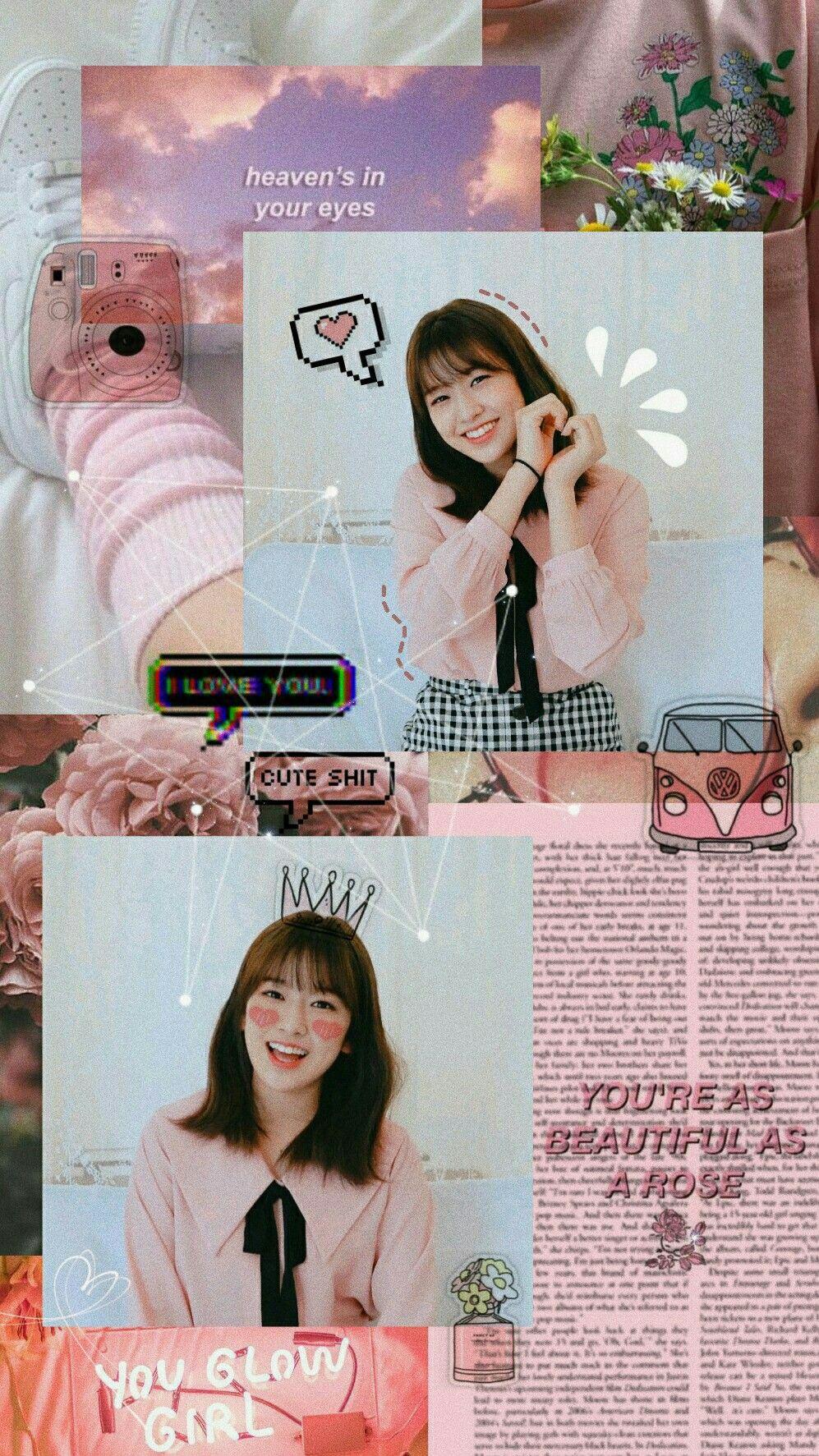 Ahn Yujin An Yujin Yujin Izone Aesthetic Rose Wallpaper Aesthetic Wallpapers Kpop Wallpaper