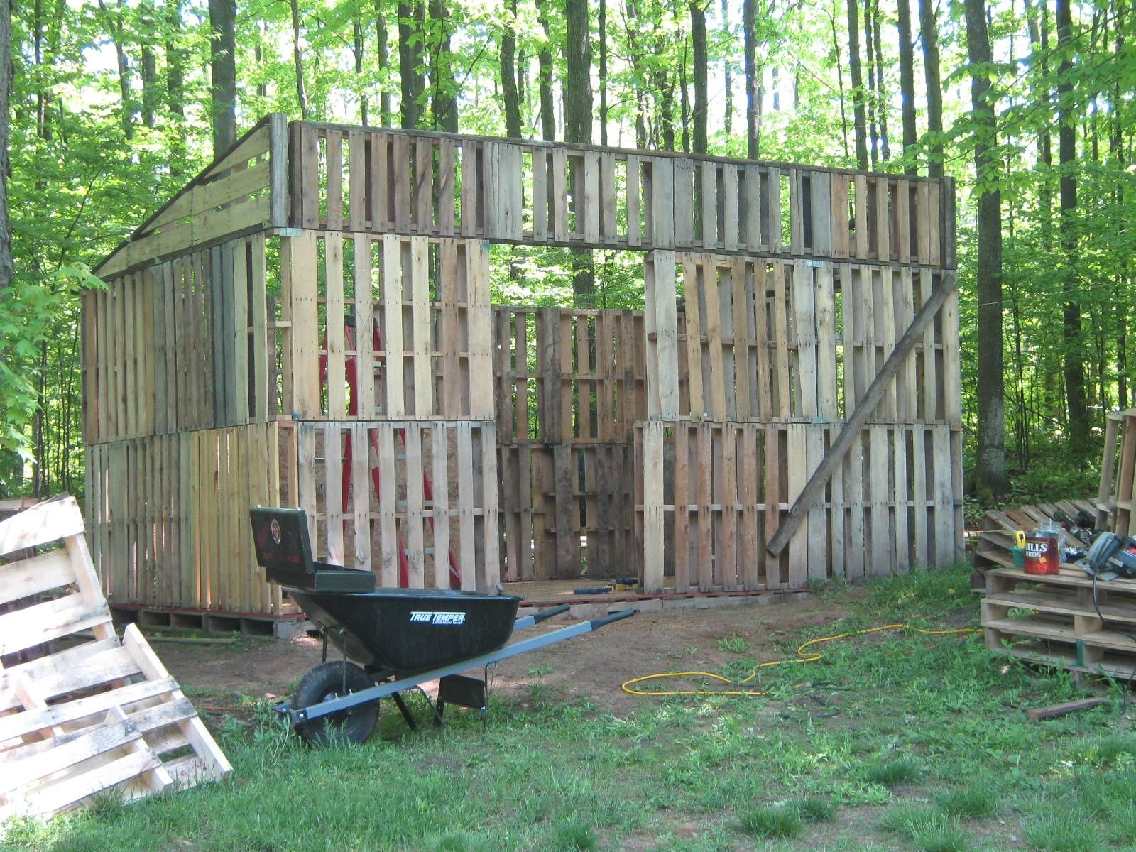 Pallet Shed Building Farm Additions Walls
