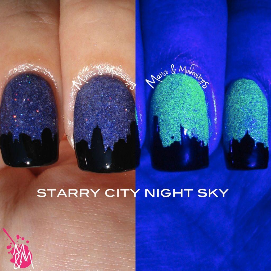 HPB Presents: City Night Sky | Cutest nail designs | Pinterest | Sky ...