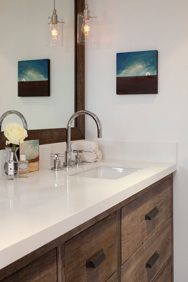 Bathroom Vanity Hanging Lights beautiful transformation of a california bungalow | bathroom