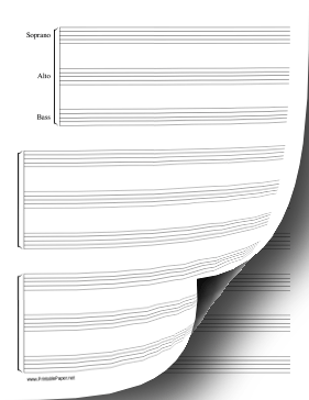 music staff paper printable