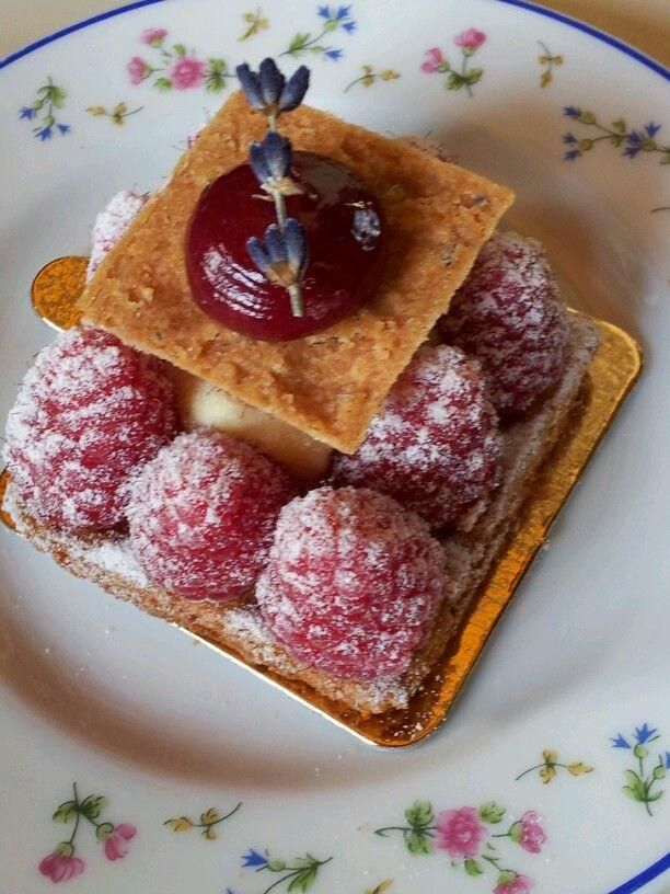 Tarte aux framboises Carette #Paris Salon de thé