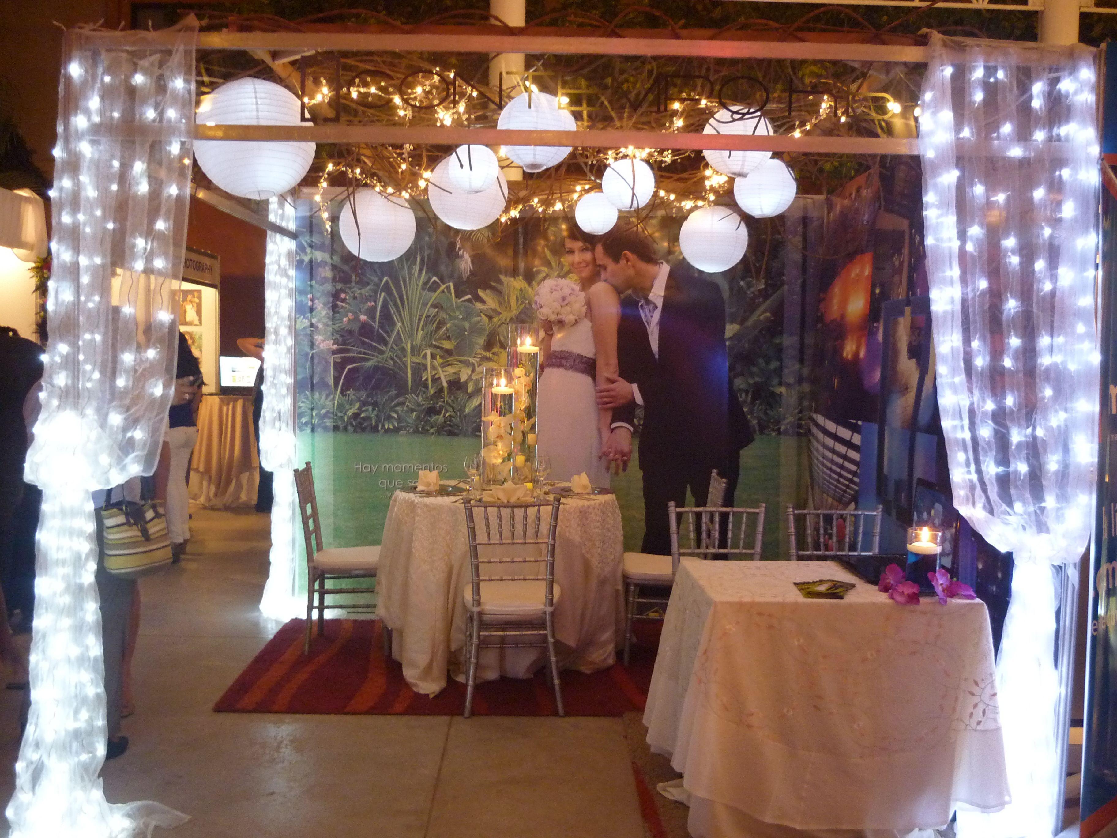 este es un stand que arregle para la feria bodas