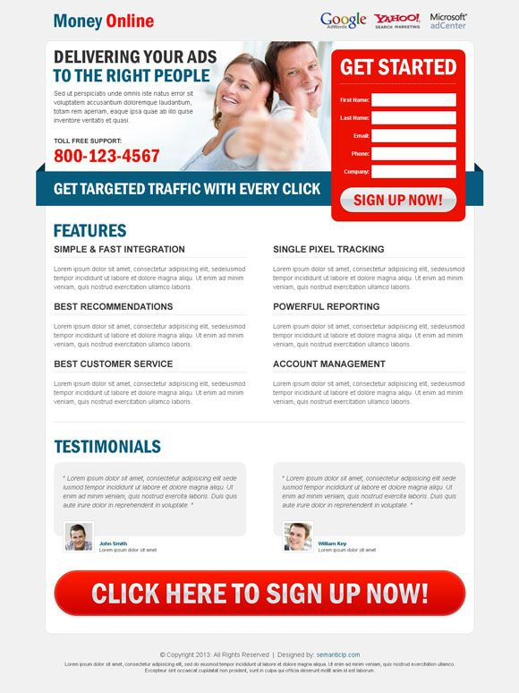 High converting landing page design and web design service on ...