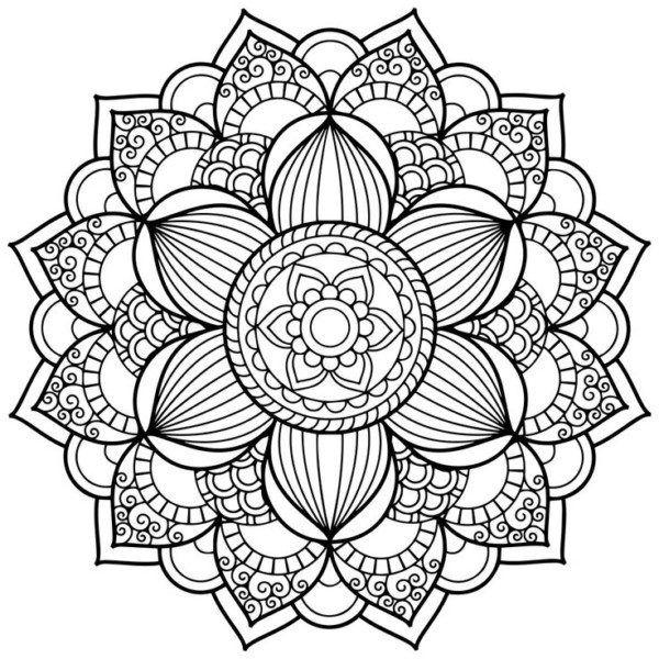 Dibujos de Mandalas para Colorear, Relajarse y Meditar | Mándala ...