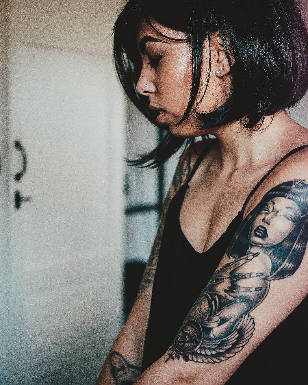 Cleopatra Tattoo Egyptian Tattoo Cleopatra Tattoo Tattoos For Women
