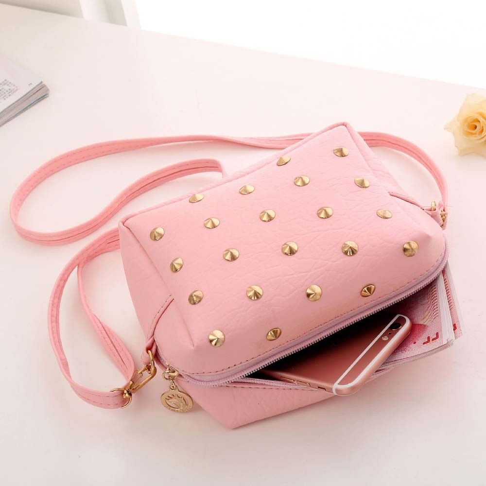 0eb93b04211f Aelicy luxury Bags for girls Handbags Women Famous Brands Designer Female  Handbag Rivet Shoulder Bag Leather. Visit. December 2018