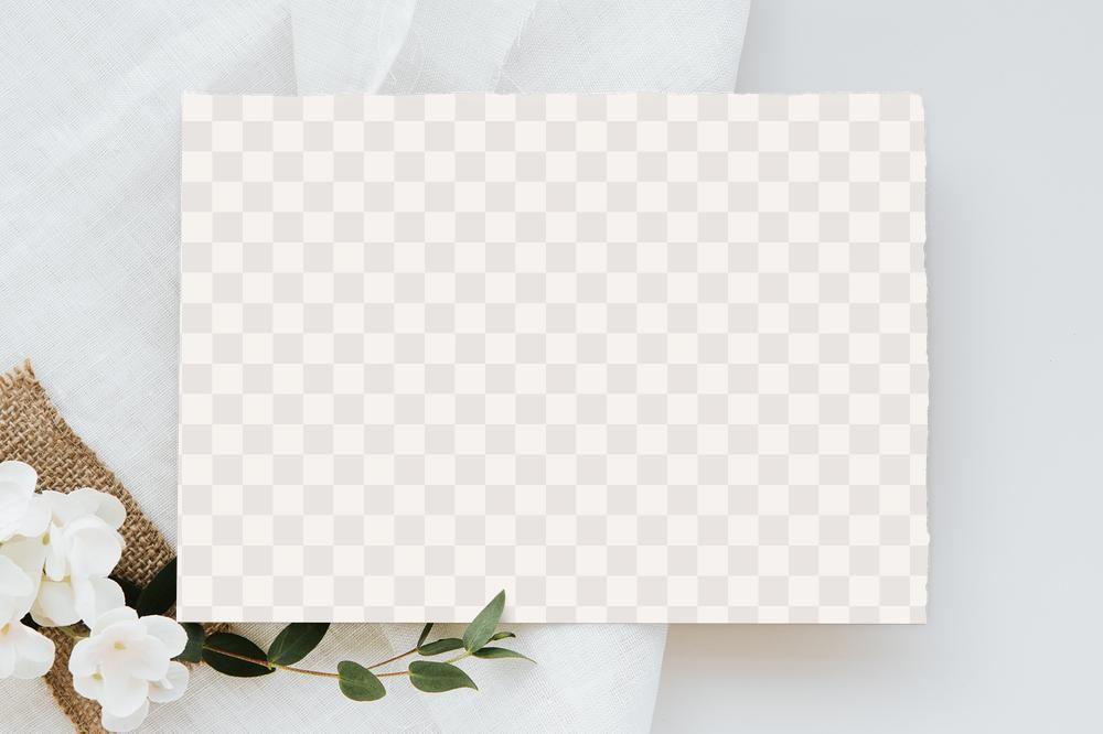 sweet pea flowera card mockup design element  free