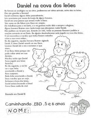 Cantinho Das Historias Biblicas Licao Biblica Para Crianca Daniel
