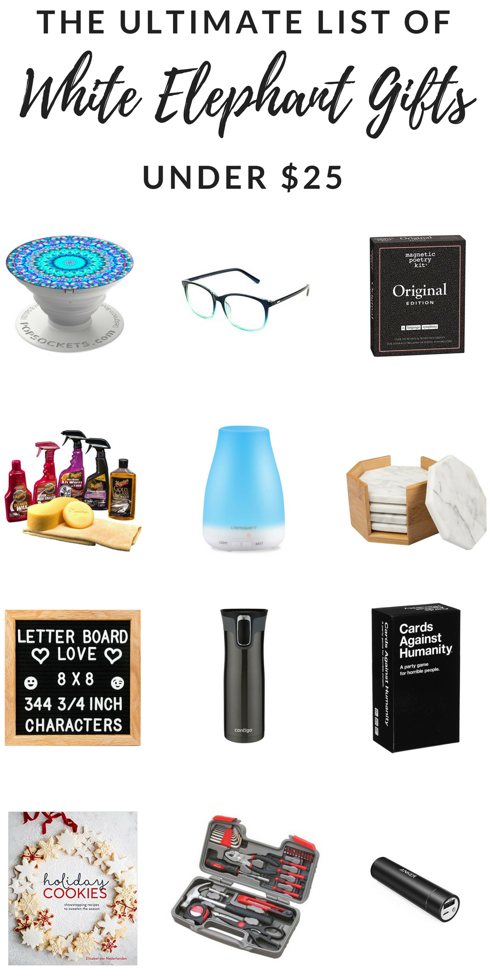 The Ultimate List Of White Elephant Gifts Under 25 White