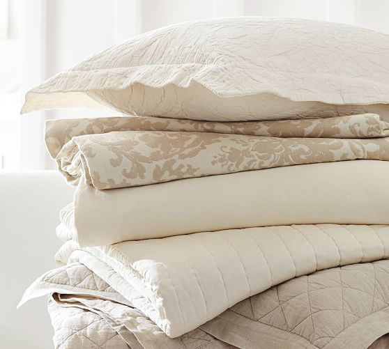 Jacquard Medallion Cotton Linen Duvet Cover Neutral Bed Linen Bed Linens Luxury Bed Duvet Covers