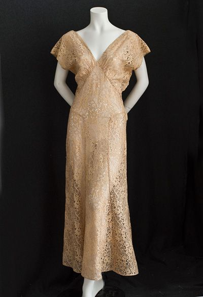 Lace dress and bolero ensemble, late 1930s. It's prettier without ...